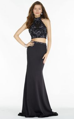 Alyce 6703, Size 0, Black, $358, 2-piece