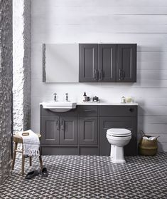 This Burford Mercury fitted furniture by Roper Rhodes looks stunning. available from Tecaz stores. Luxury Furniture, Diy Furniture, Furniture Stores, Bedroom Furniture, Fitted Bathroom Furniture, Armoire, Victorian Bathroom, New Toilet, Toilet Sink