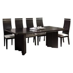 Vivaldi Rectangular Extendable Dining Table - Wenge - Dining Tables at Hayneedle