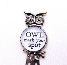 Owl Bookmark  Owl Mark Your Spot  Love to by HandcraftedWithJoy
