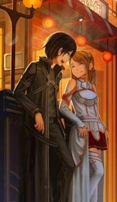 Sword Art Online, Kirito and Asuna