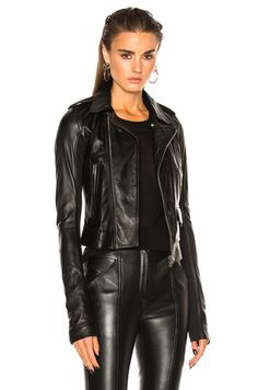 Classic Stooges Biker Jacket in Black leather with @leather pants