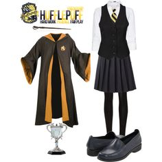 Hufflepuff, created by marzelah on Polyvore