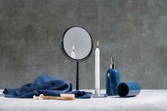 Oglinda cosmetica de masa, Black Kj #homedecor #inspiration #decorations #bathroom Navy Blue, Mirror, Interior, Table, Decorations, Furniture, Design, Home Decor, Inspiration