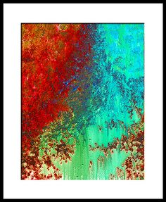 Abstract 4 Colorful Art Painting Print by Sharon Cummings