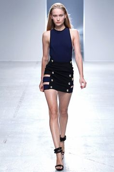 Anthony Vaccarello Spring 2014 Ready-to-Wear Collection Photos - Vogue Dope Fashion, Paris Fashion, Runway Fashion, Fashion Show, Fashion Design, Fashion Trends, Seoul Fashion, Spring 2014, Spring Summer