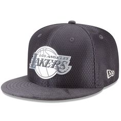 ec3ac0228 Youth Los Angeles Lakers New Era Graphite Silver On-Court 9FIFTY Snapback  Adjustable Hat
