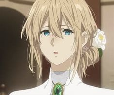 Image shared by Naho. Find images and videos about aesthetic, anime and flower on We Heart It - the app to get lost in what you love. Kawaii Anime Girl, Anime Art Girl, Violet Evergreen, Violet Garden, Beautiful Girl Makeup, Violet Evergarden Anime, Film Anime, Kyoto Animation, Anime Expressions