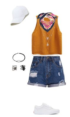 """""""Sin título #16"""" by damarisalderete ❤ liked on Polyvore featuring WithChic, Alex and Ani, Kendra Scott, Eva Fehren, Vans and Sole Society"""