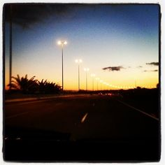 #pieceful #sunset #drive #home ♥ #beauty #beautiful #sunsetsofinstagram #nature #naturelovers #nature_seekers #car #carsofinstagram #enjoying #life #road #highway #europe #spain #light #day #night #colorful