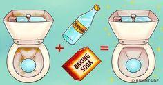 Versez du vinaigre dans le réservoir de la toilette et regardez ce qui se passe quand vous tirez la chasse! - Trucs et Bricolages