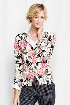 Women's Supima Print Cardigan Sweater from Lands' End | Coveting ...