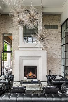 Luxury Home by Timberworx Custom Homes A fireplace is mostly a structure crafted from brick, stone o Four Seasons Room, Metal Homes, Custom Homes, Luxury Homes, Brick, Indoor, Interior Design, Home Decor, Lighting