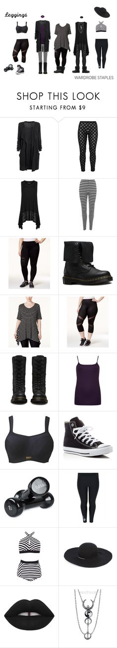 """Plus-Size Leggings for All Ocassions"" by vic-mazonas ❤ liked on Polyvore featuring Boris, Vincenzo Allocca, WearAll, Jessica Simpson, Belldini, Ideology, Converse, Casall, Eugenia Kim and Manic Panic NYC"