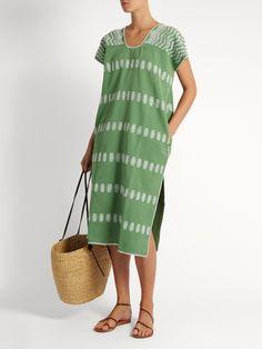 Grass green caftan