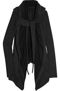 DRKSHDW BY RICK OWENS Hooded cotton-fleece jacket $640