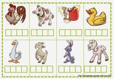 JOC DE SÍL·LABES – brichi Monferrer – Webová alba Picasa Spelling Games, Educational Games For Kids, Phonological Awareness, Kindergarten Activities, Farm Animals, Alphabet, Homeschool, Printables, Kids Rugs