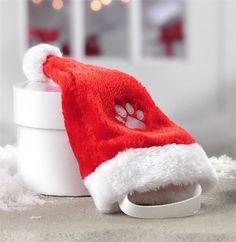 Dog Santa Hat. Elastic Strap. | eBay!