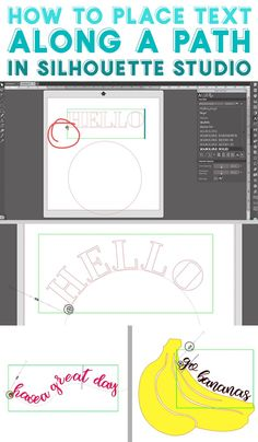 How to curve text along a path in Silhouette Studio Silhouette Fonts, Silhouette Cameo Projects, Silhouette Design, Silhouette Studio, Bee Crafts, Vinyl Crafts, Cool Fonts, New Fonts, Free Font Websites