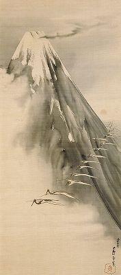 Rosetau NAGASAWA (1754~1799), Japan 長沢芦雪「富士越鶴図」