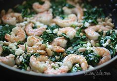 Tuscan White Beans with Spinach, Shrimp and Feta | Skinnytaste