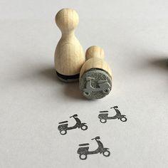 Vespa Roller Mini Stempel Mini-Stempel von BloodyNose auf DaWanda.com
