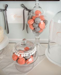 Coral wedding ideas, Coral Macaroons   AA: in all reality i just think macaroons are yummy