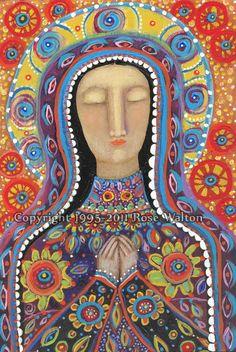Ce n'est pas une Vierge de Gualalupe mais je l'aime et la place ici... avec ses soeurs!