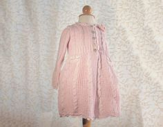 Cotton Knit Pink baby girl Kim coat Easter coat for by Renattoni, $92.00