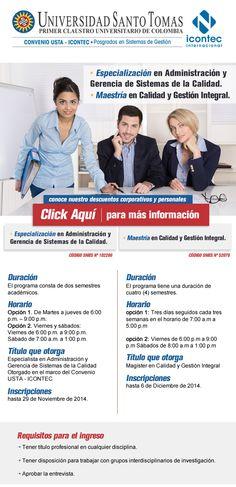 #NOVOCLICK esta  con @USTA_COLOMBIA  #Especializacion #maestria enfocado en gestión y calidad