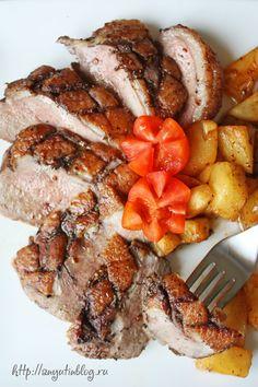 Жареная утиная грудка. Пошаговый фото-рецепт. #meat, #duck, #food