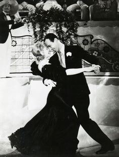 Fred and Ginger never kissed on stage because Fred was too devoted to his wife to kiss anyone but her. Every time they're about to kiss on stage, they're interrupted.