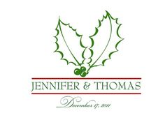 Christmas wedding monogram/motif idea.