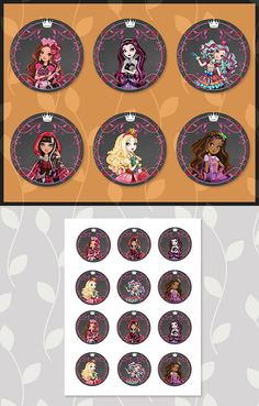 Ever After High Cupcake Topper Chalkboard // by ApothecaryTables