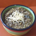 Simplest barley soup ever (with a touch of spice, of course)