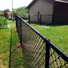 Apartment Patio Privacy Ideas Chain Links 54 New Ideas Painted Chain Link Fence, Black Chain Link Fence, Backyard Fences, Backyard Landscaping, Landscaping Design, Backyard Retreat, Garden Fencing, Diy Dog Fence, Fence For Dogs