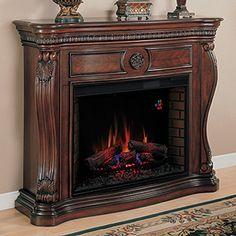"Lexington 33"" Empire Cherry Electric Fireplace Cabinet Mantel Package - 33WM881-C232"