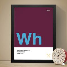 West Ham United Football Club Poster, Football Poster, A4 Football Print, Football Gift