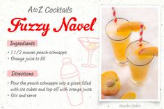 Fuzzy Navel Drink Recipe