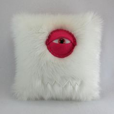 Monster Pillow by bearmojo on Etsy- this is disgusting. That monsters eye is pink because he got poked when people woke up and saw him
