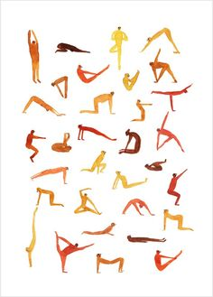 "Affiche Illustration ""Yoga Time"", poster de Marion Barraud"