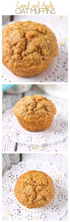 Carrot and Apple Oat Muffins | Annie's Noms