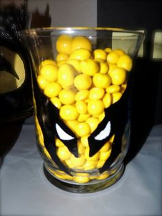 Hand painted candy jar : wolverine