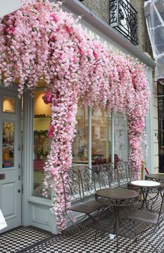 Pretty In Pink, Beautiful Flowers, Beautiful Places, London Cafe, London Pubs, London Food, Flowers London, Cute Cafe, Deco Floral