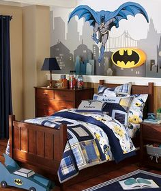 Batman room...this would be so awesome!
