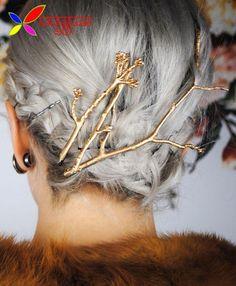 2016 Árbol de Ramas de Metal Horquillas Clip de Moda Nuevo Diseñador de La Vendimia para Las Mujeres Accesorios de La Joyería pinzas de pelo Del Pelo de la Boda