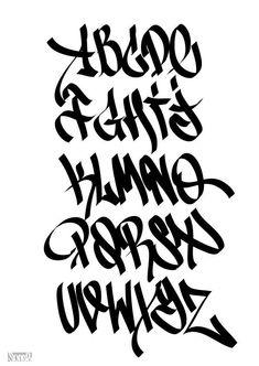 old graffiti letters Graffiti Alphabet Styles, Graffiti Lettering Alphabet, Tattoo Fonts Alphabet, Graffiti Writing, Tattoo Lettering Fonts, Lettering Styles, Tag Alphabet, Graffiti Tagging, Alphabet Drawing