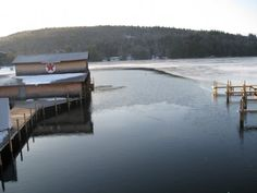 Ice out on Squam lake NH