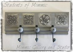 Completed by one of our Thursday ladies these 'Pretty little Hangup' creative kits are available from Mimmic Gallery and Studio Pewter Art, Pewter Metal, Copper Metal, Metal Tools, Metal Art, Tin Foil Art, Metal Embossing, Quilling, Thursday