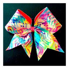 Bright Chevron Cheer Bow on Etsy, $14.00. #flippinbows #bows #cheer
